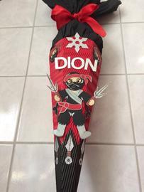 Dion freute sich über eine richtig coole Ninja-Tüte. Ob er selbst ein Ninja ist?