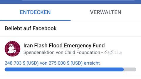 Spenden über Websites oder Social Media