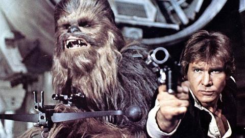 Han Solo und Chewbacca aus Star Wars