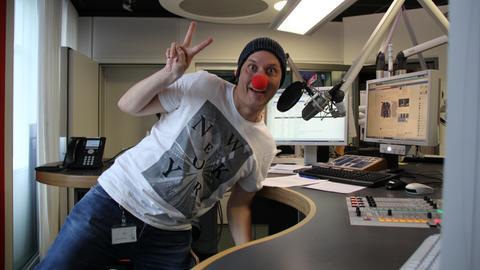 Stefan Frech mit Clowns Nase Clown Doktoren