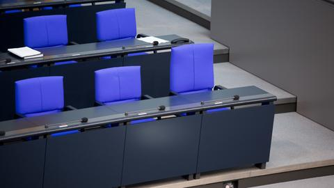 Stühle im Reichstag