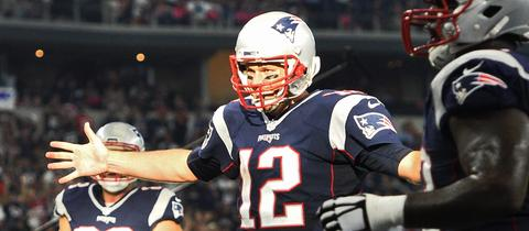 Quaterback Tom Brady von dem New England Patriots