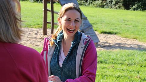 Dana kurz vor dem Start der Reise