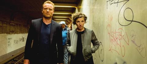 Die Kommissare Rubin (Meret Becker) und Karow (Mark Waschke) ermitteln im Berliner Untergrund