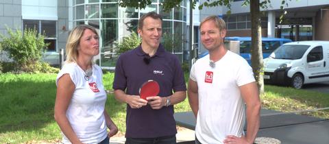 Die Tischtennis Challenge: Tobi & Tanja vs. Jörg Rosskopf