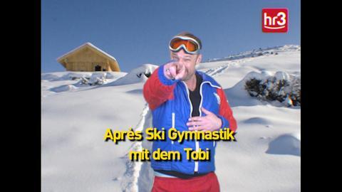 Tobi macht Apres Ski Gymnastik