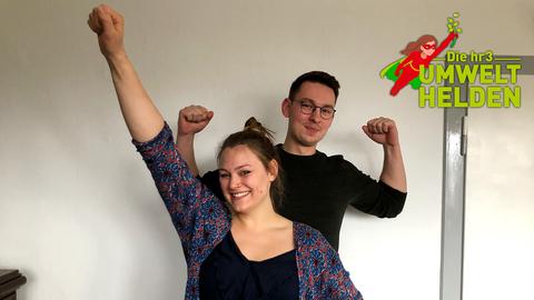 Die hr3 Umwelthelden Kim und Jonas aus Marburg