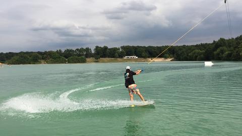 Wakeboarden am Raunheimer See