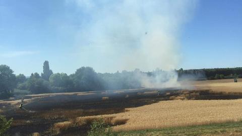Waldbrand in Bürgel