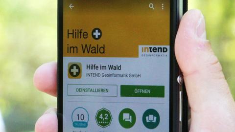 """Die App """"Hilfe im Wald"""""""