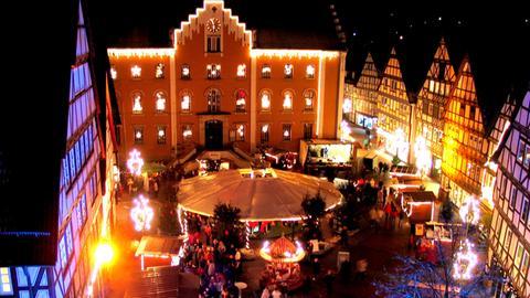 hr3-Weihnachtsmarkttour - Marktplatz Hofgeismar