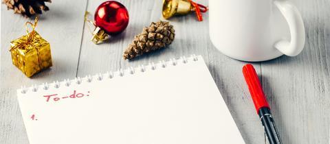 To-do-Liste für Weihnachten