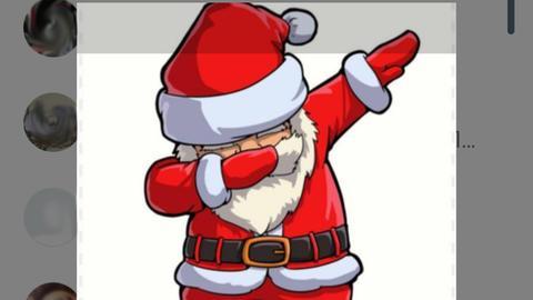Weihnachtsmann als WhatsApp Profilbild Kettenbrief