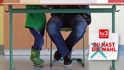 Wahlkabine Wissen to go inkl. hr3 Badge