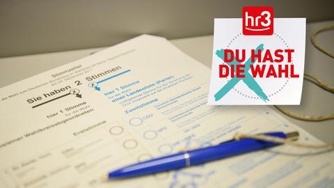 Stimmzettel hr3 Badge